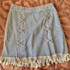 Hayden LA denim mini skirt